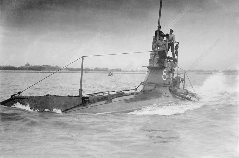 HMS A5, Royal Nay submarine, 1910s