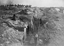 Abandoned British trench, World War I