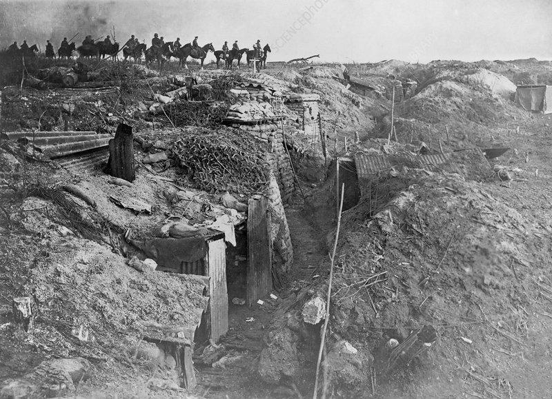 Abandoned British trench, World War I