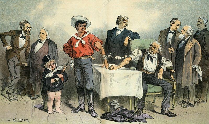 Political blood transfusion, 19th century