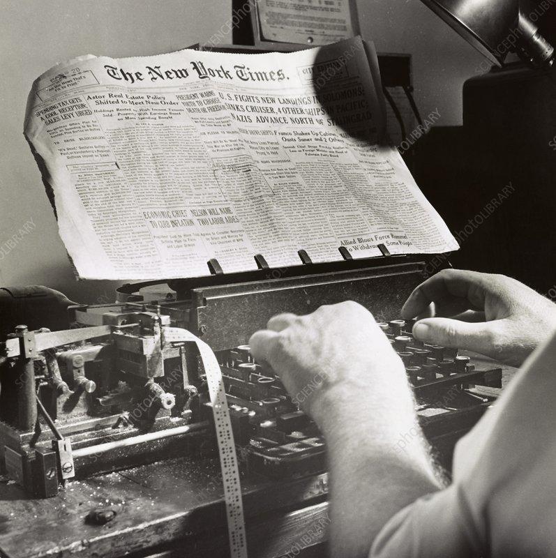 Wartime news transmission, 1942