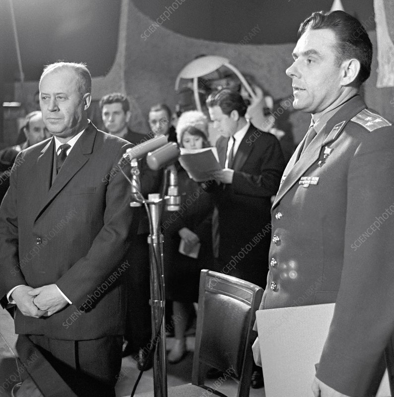 Cosmonaut Komarov at presentation
