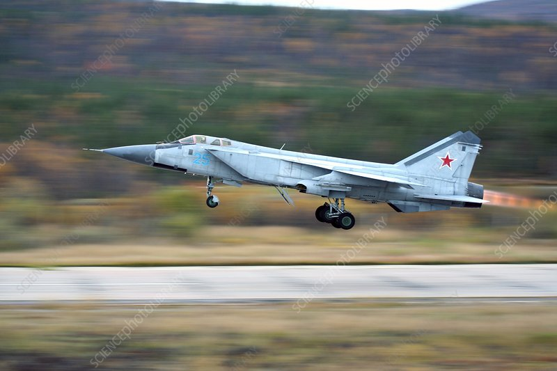 MiG-31 fighter taking off