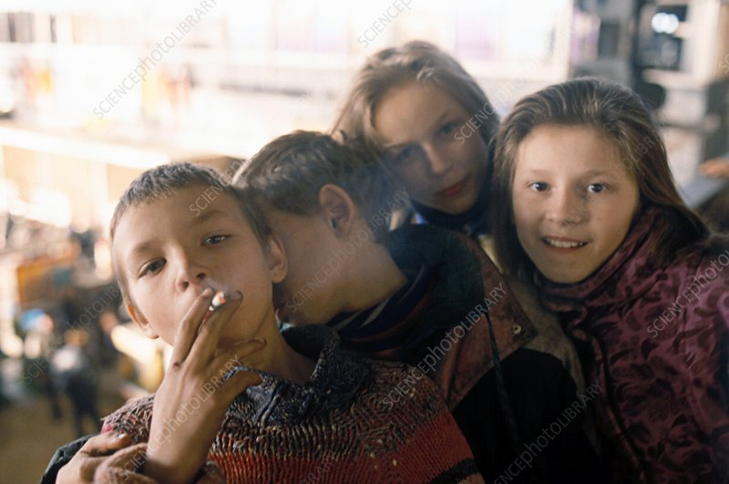 Homeless children in Moscow - Stock Image C016/2715 - enlarged ...