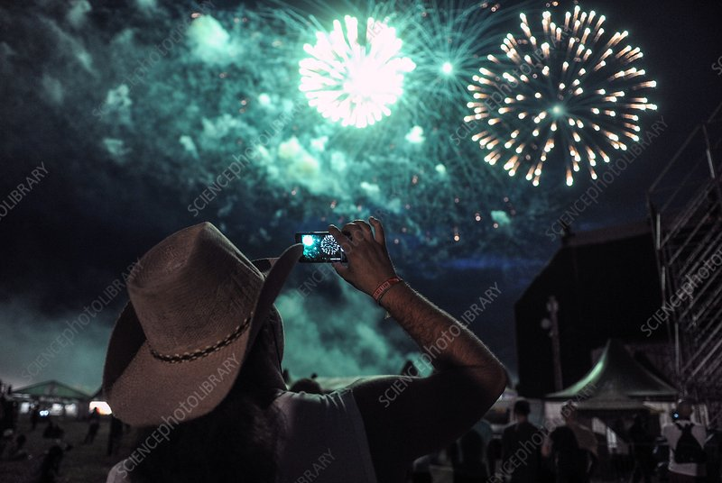 Fireworks at a music festival