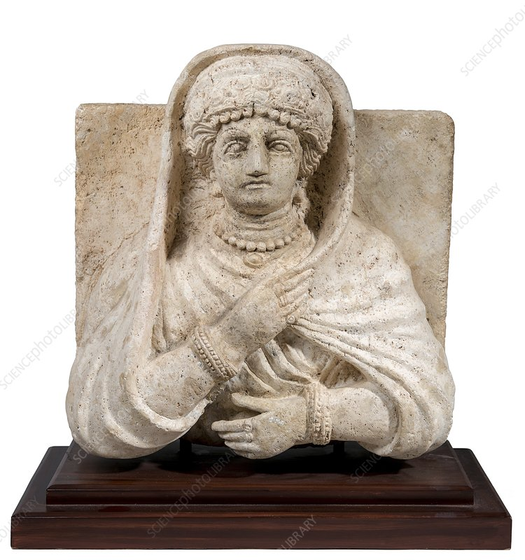 stone bust of a woman