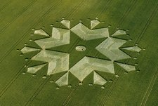 Crop formation, aerial photograph