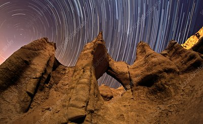 Startrails over Valley of the Stars, Iran