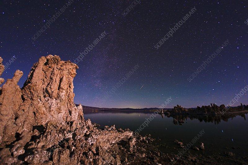 Mono Lake, USA, at night