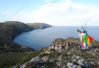 Shamanic ceremony, Lake Baikal