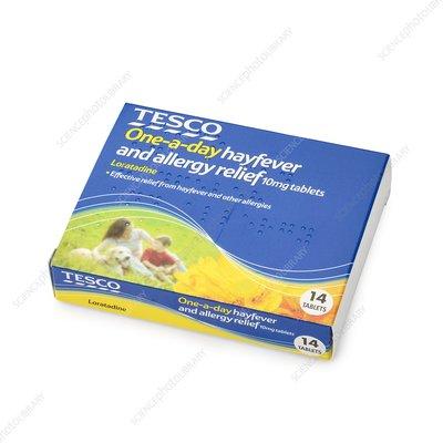 loratadine hayfever tablets stock image c016 3958 science photo library. Black Bedroom Furniture Sets. Home Design Ideas