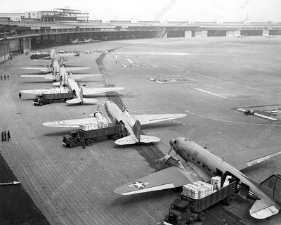 Berlin Airlift cargo aeroplanes, 1948-9