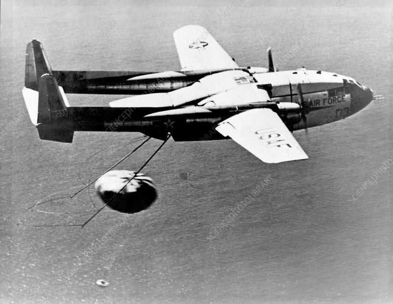 Fairchild C-119 capsule recovery, 1960s