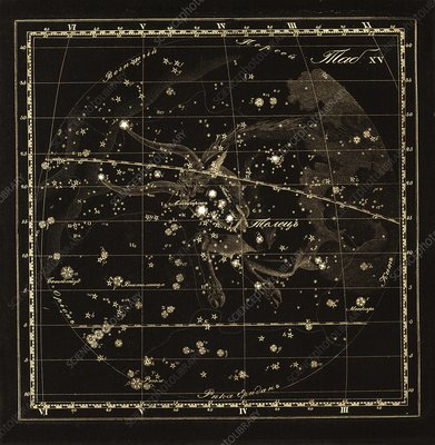 Taurus constellation, 1829
