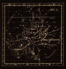 Libra constellations, 1829