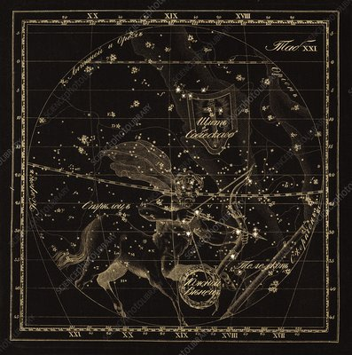 Sagittarius constellations, 1829