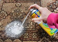Carpet stain remover spray