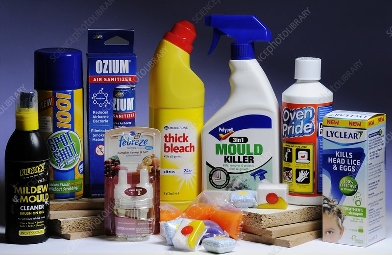 Toxic Household Products Stock Image C016 4474 Science