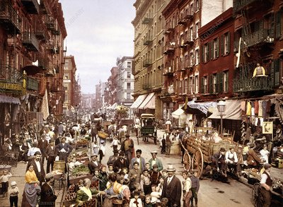 Mulberry Street, New York, circa 1900