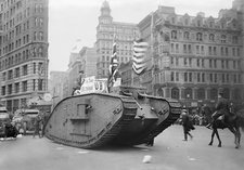 British tank in New York, World War I