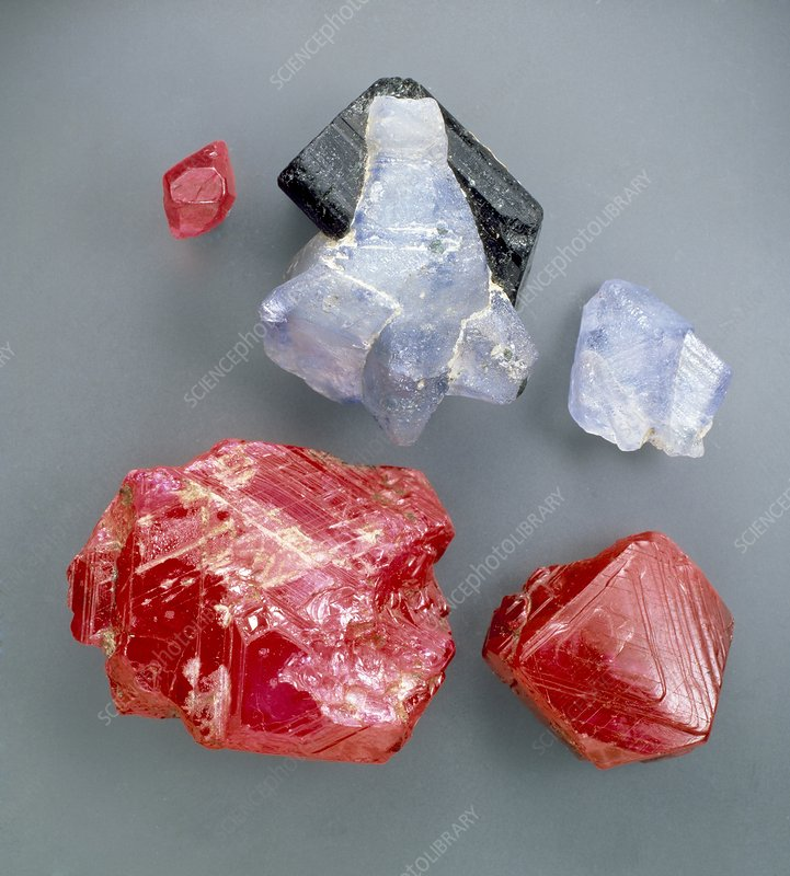 Ruby and sapphire specimens
