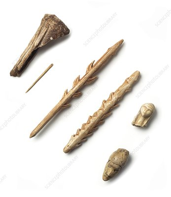 Ivory and bone tools, Upper Palaeolithic