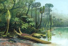 Carboniferous landscape, artwork