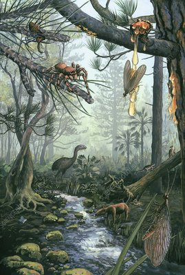 Eocene forest landscape, artwork