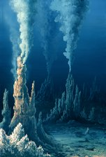 White smoker hydrothermal vents, artwork