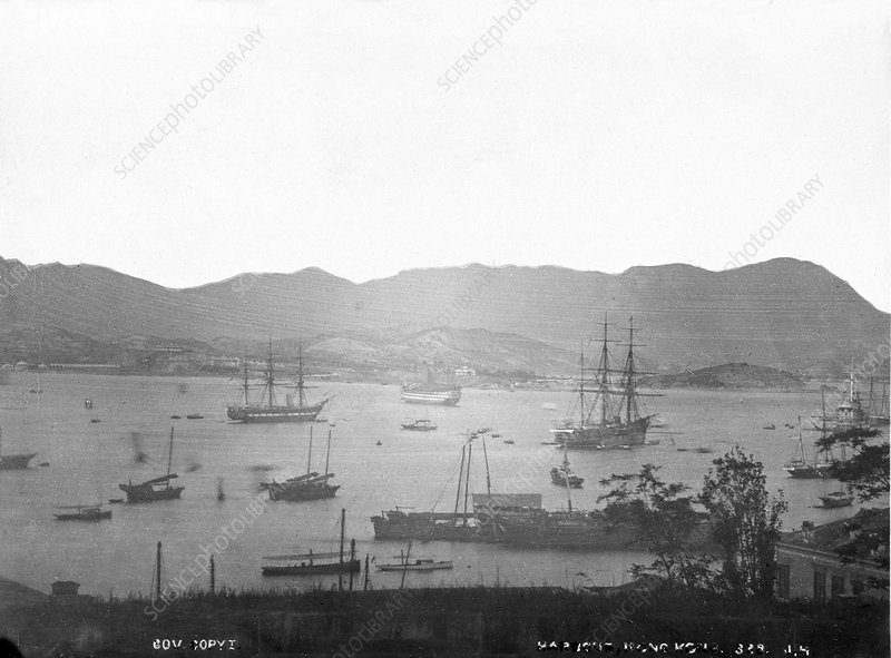 Harbour, Hong Kong, 19th century