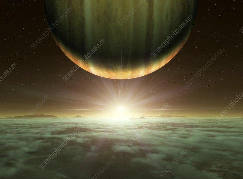exoplanet landscape orbiting giant planet - photo #10