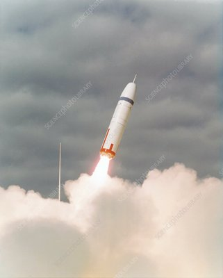 First test launch of a Trident missile