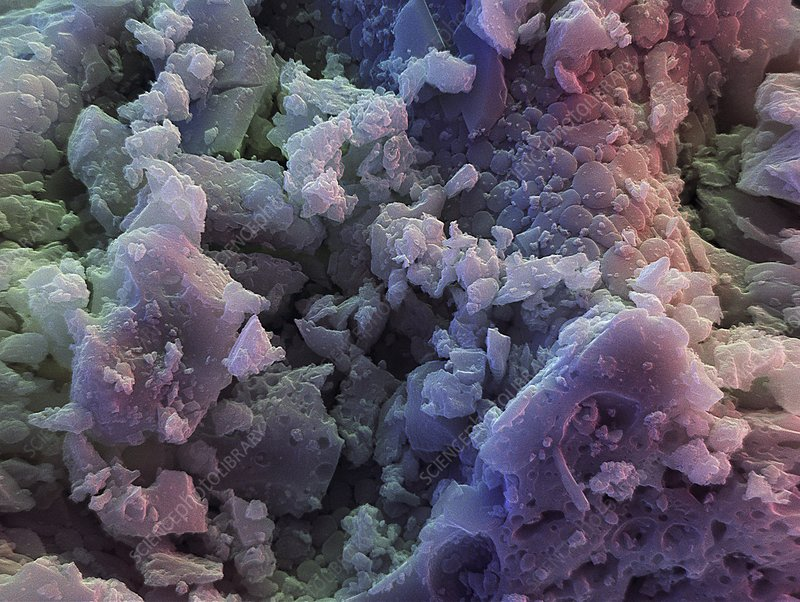 Slag Cement Microscope : Fly ash sem stock image c  science photo library