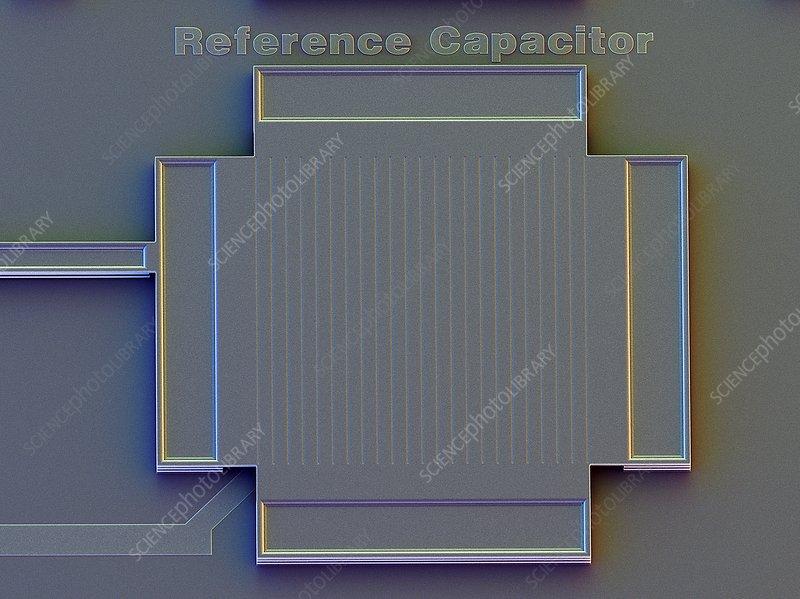 MEMS capacitor, SEM