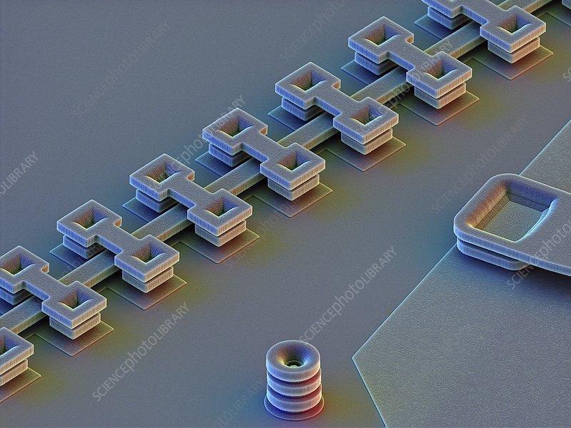 MEMS linear motion actuator device, SEM