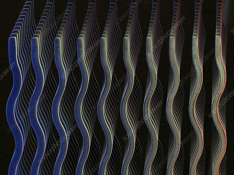 MEMS neural interface chip, SEM