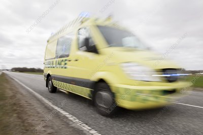 Ambulance responding to a call-out