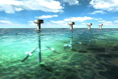 Tidal power plant, artwork