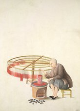Candle-maker, 19th-century China