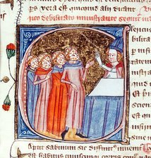 Clerics with leprosy, 14th-century