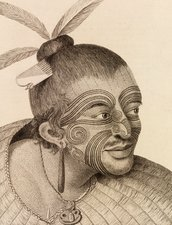 New Zealand warrior chief, 18th century