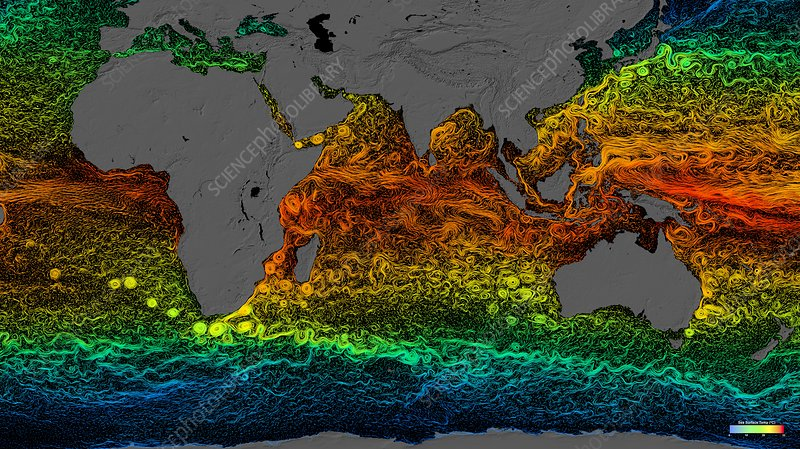 Global surface currents 2005-2007