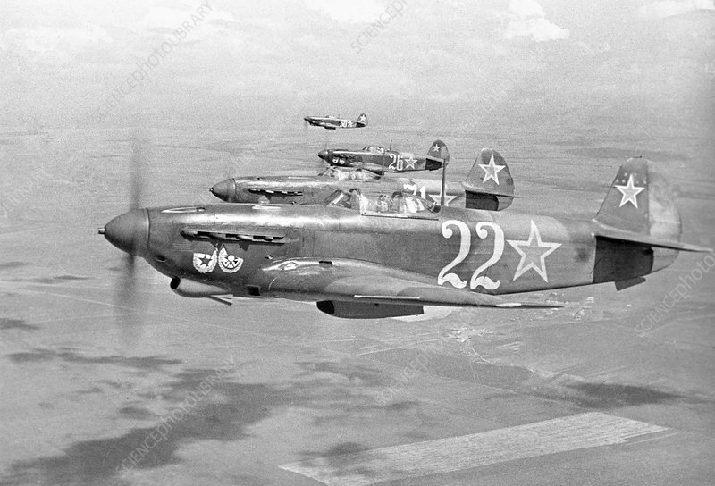 Yakovlev Yak-9 fighters, 1942