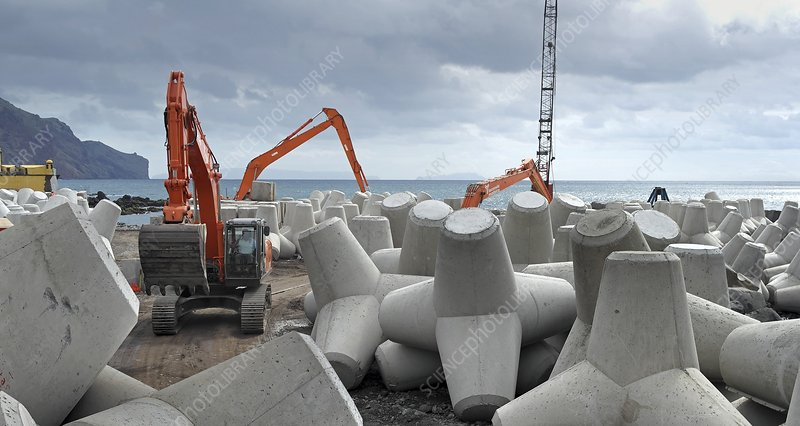 Coastal defence construction, Portugal