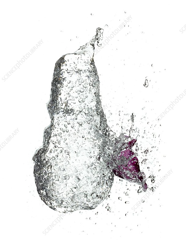 Exploding water balloon, high-speed image