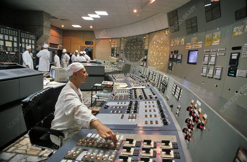 Chernobyl Reactor 3 Control Room Stock Image C016 8612
