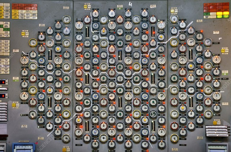 Chernobyl reactor 3 control panel
