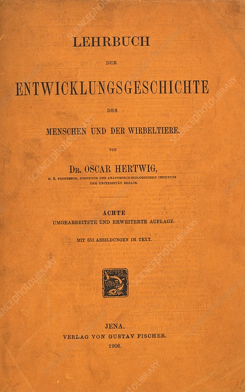 Title page from O. Hertwig textbook