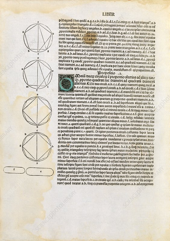 Euclid's Elements of Geometry, 1482