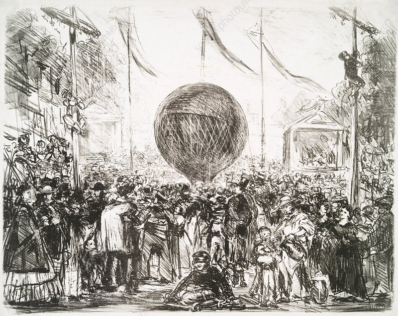 The Balloon (1862) by Edouard Manet